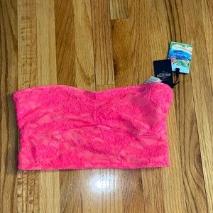 NWT Hollister Hot Pink Bandeau Bra, Size Small